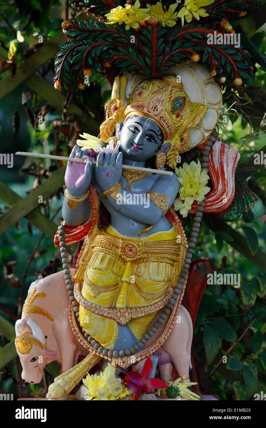 Krishna statua in Bhaktivedanta Manor (ISKCON Hare Krishna) tempio Foto Stock