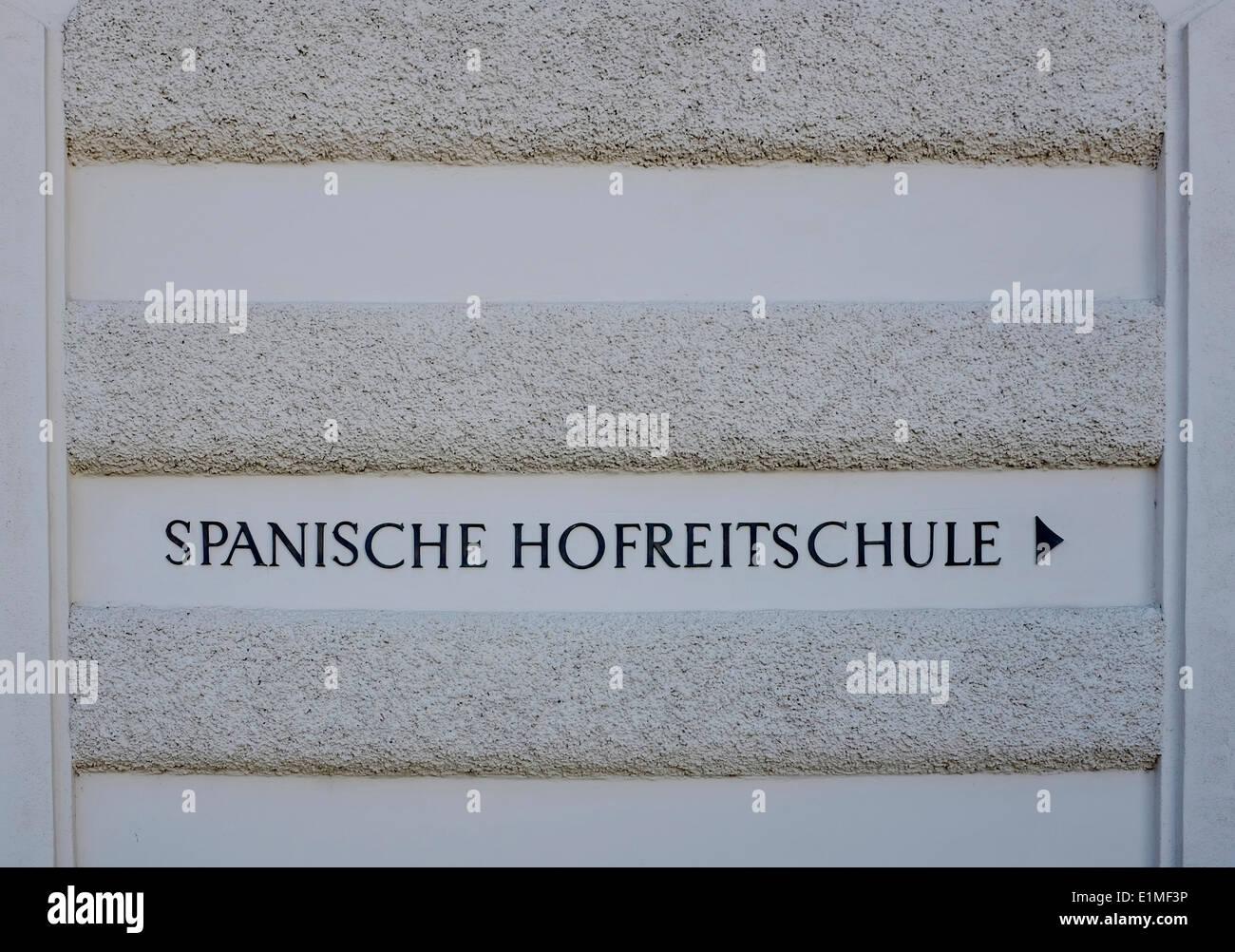 La Scuola di Equitazione Spagnola, Vienna, Austria, Europa Immagini Stock
