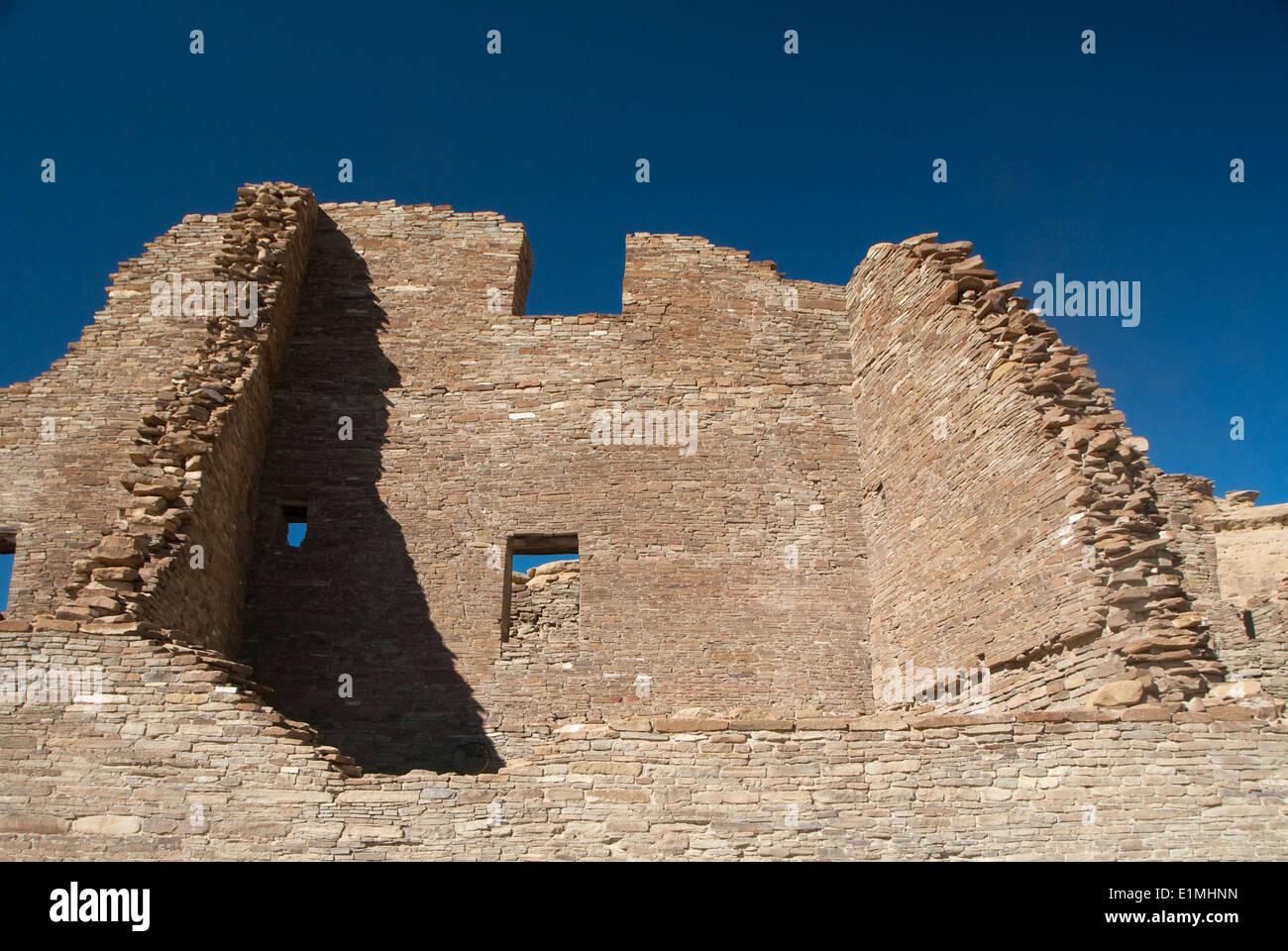 Stati Uniti d'America, Nuovo Messico, Chaco Canyon National Historic Park, sito del Patrimonio Mondiale, Pueblo Foto Stock