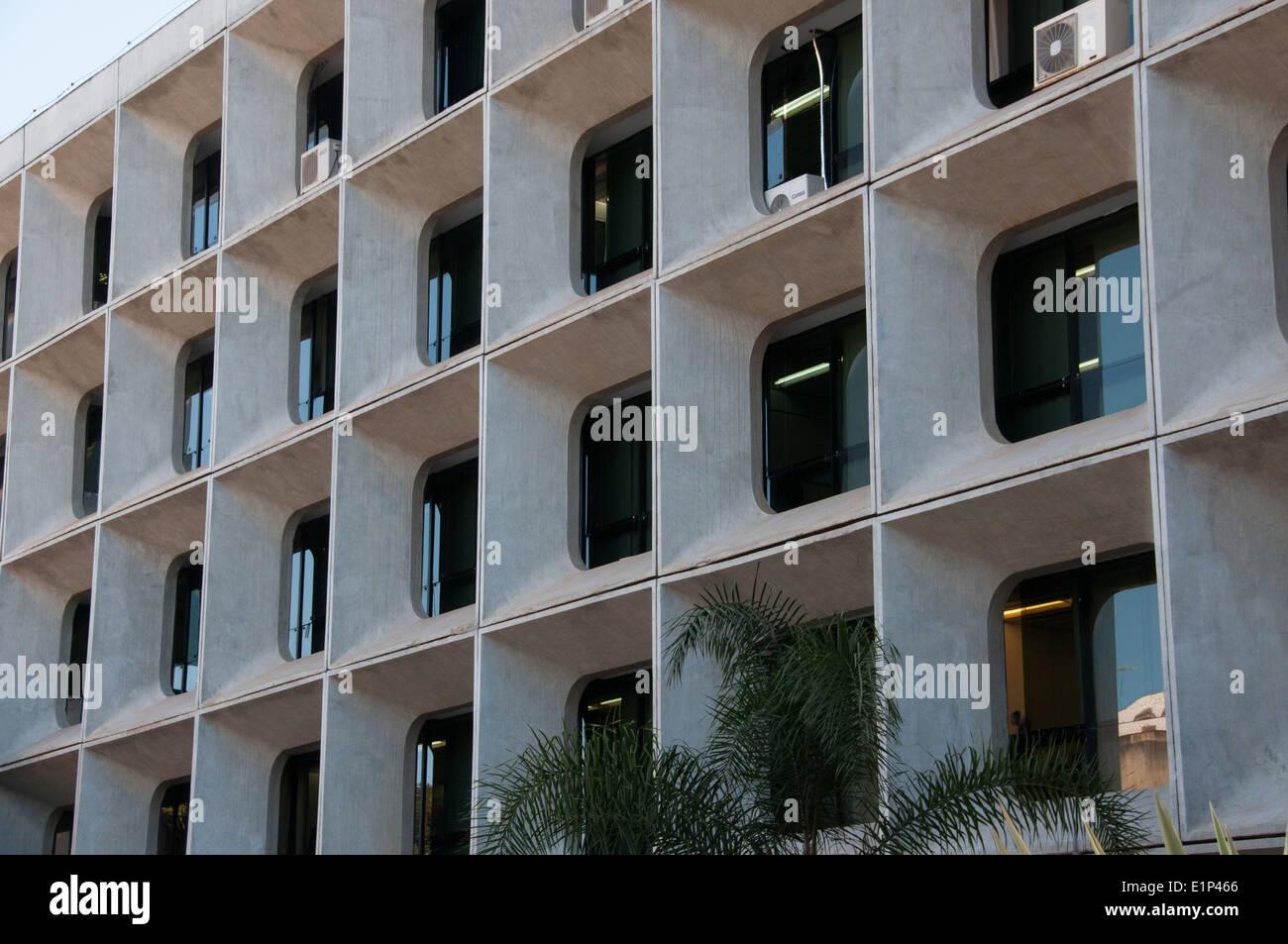 Architettura moderna downtown ufficio edificio Brasilia Foto Stock