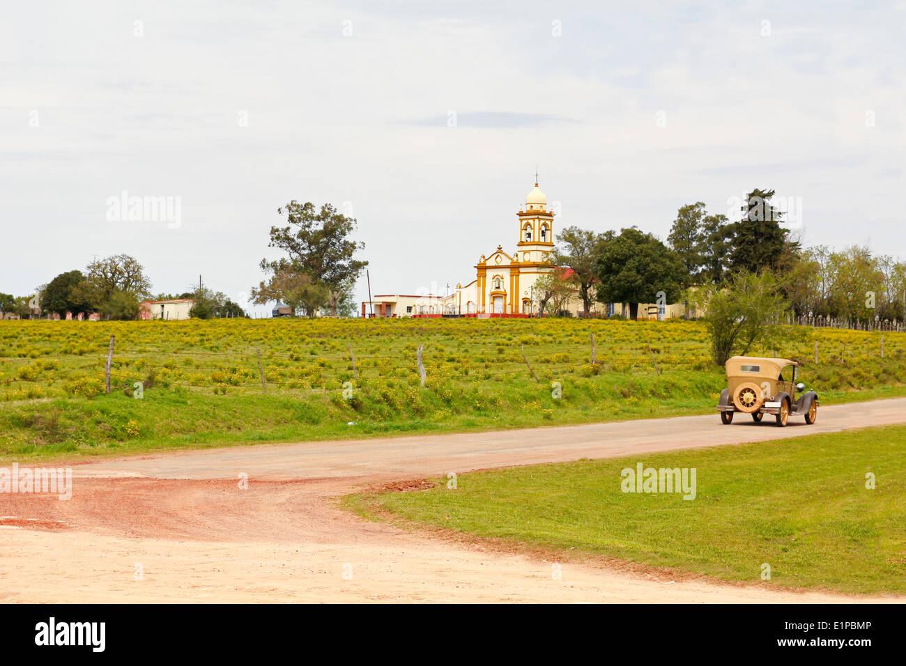 Il ritorno al passato. Una scena vintage in Uruguay Immagini Stock