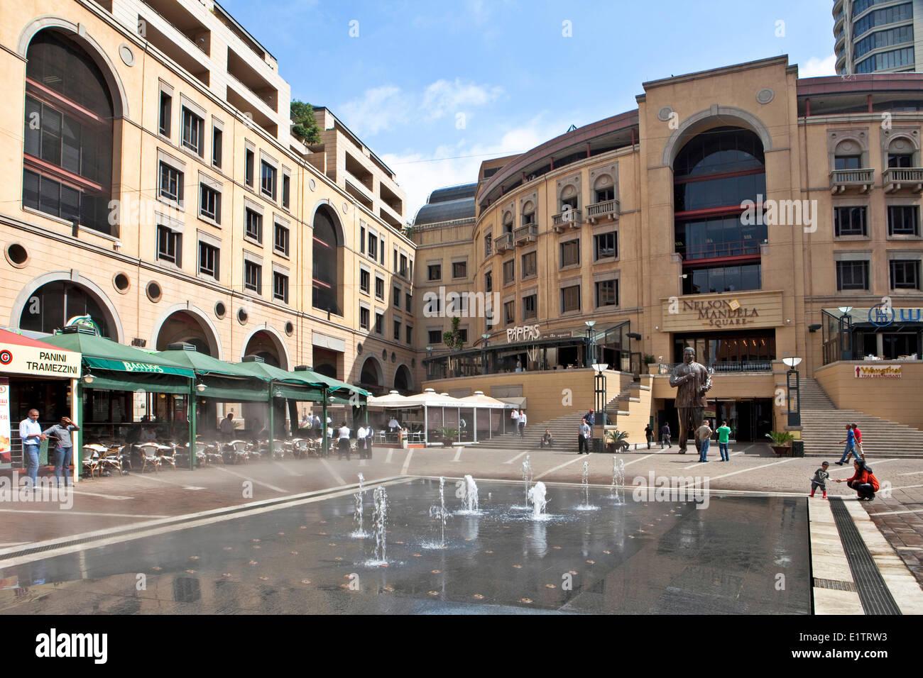Nelson Mandela Square, Johannesburg, Sud Africa Immagini Stock