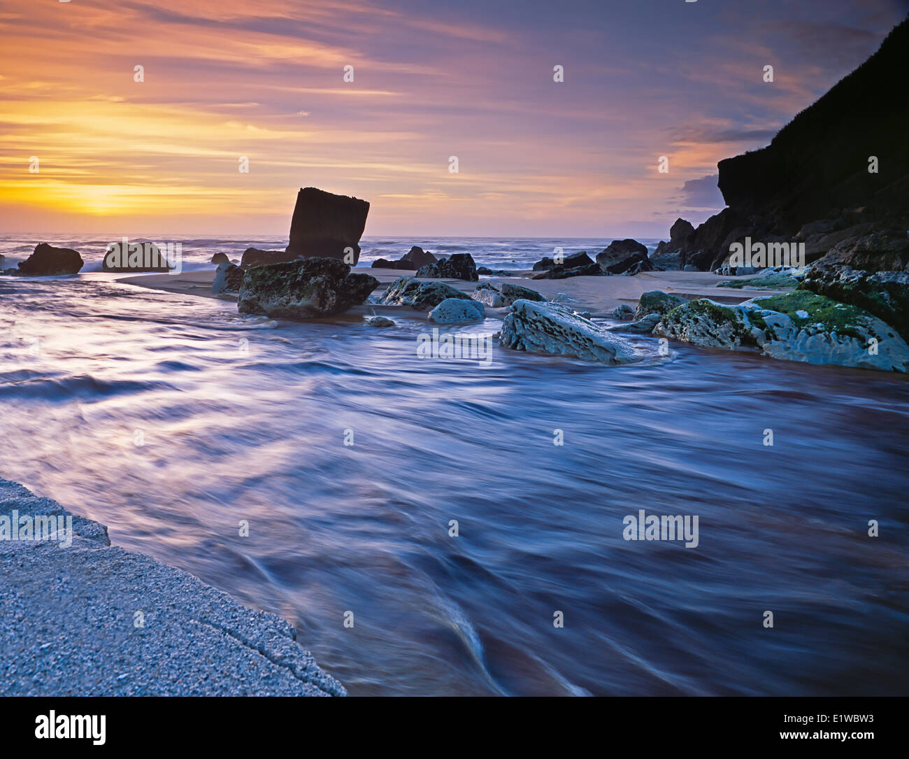 Scotts Beach, Kohaihai River, Nuova Zelanda Immagini Stock