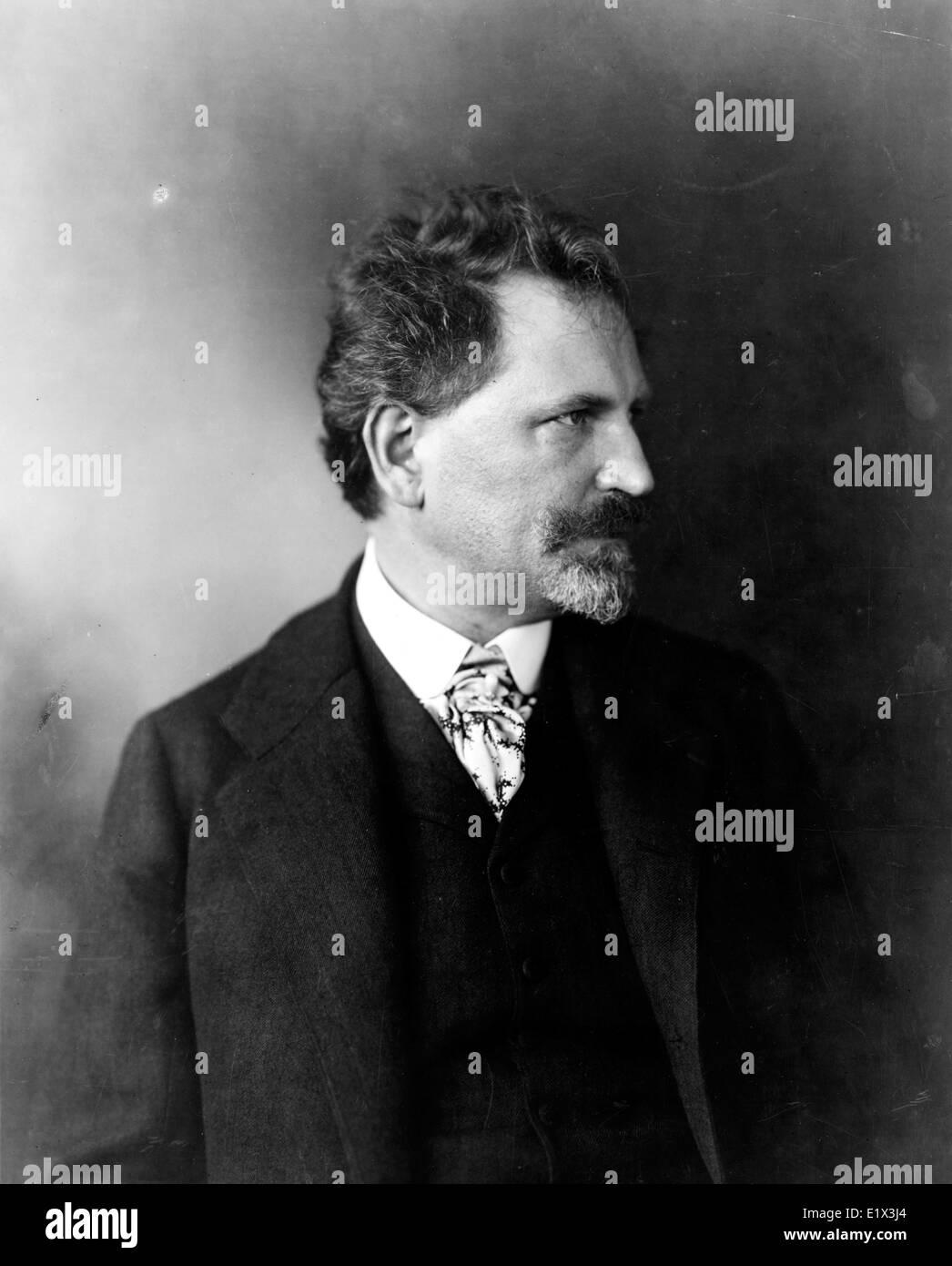 Alphonse Mucha era un pittore cecoslovacco famoso per il suo stile Art Nouveau styl Immagini Stock