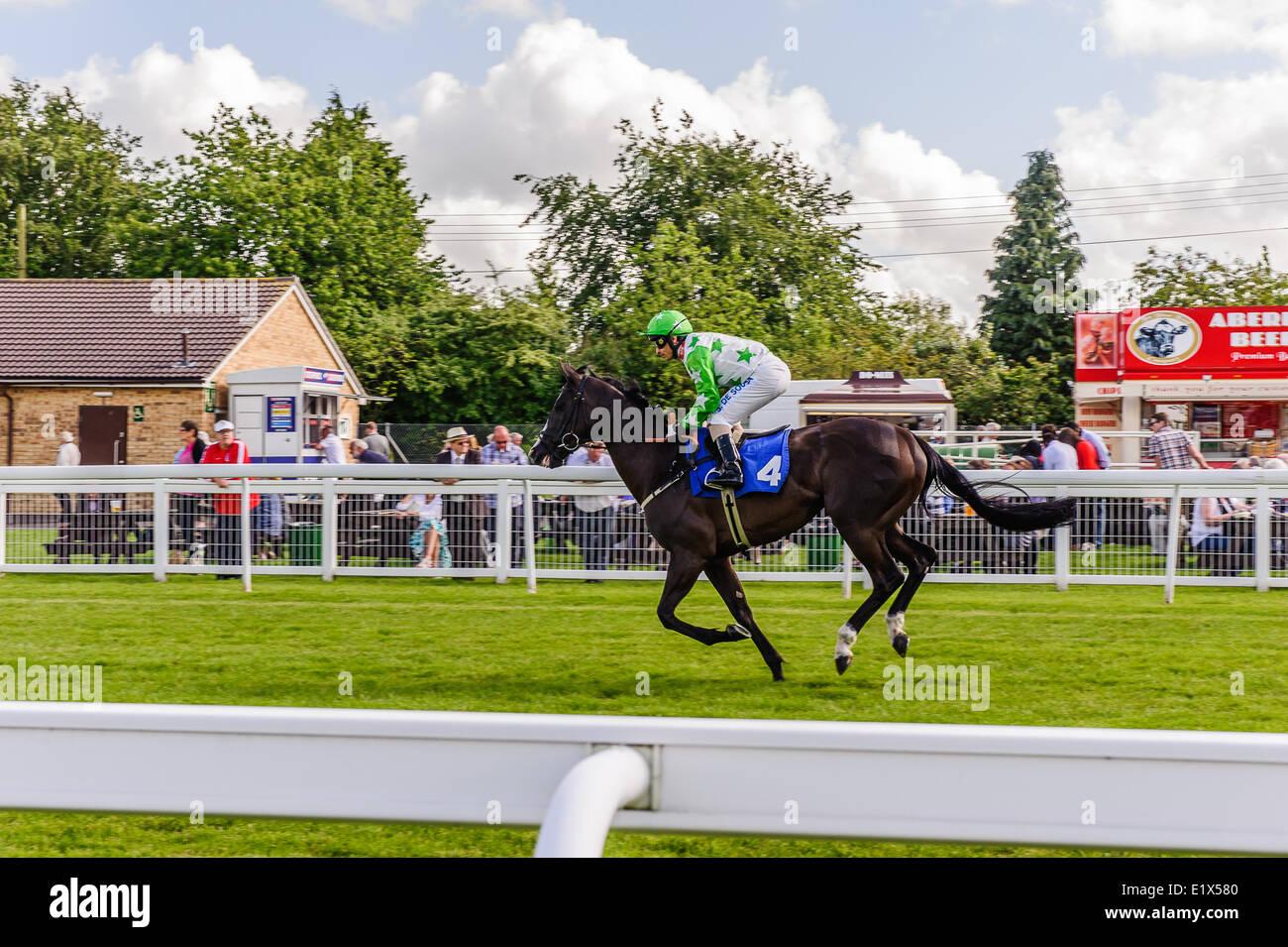 Ippodromo di Salisbury è un ippodromo di piana nel Regno Unito con corse di cavalli purosangue, 3 miglia a Immagini Stock