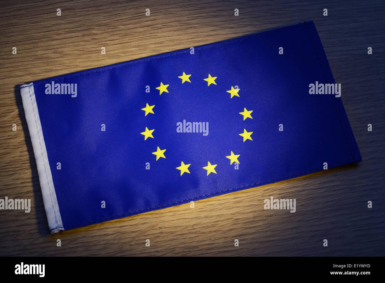 Bandiera dell'Unione europea Immagini Stock