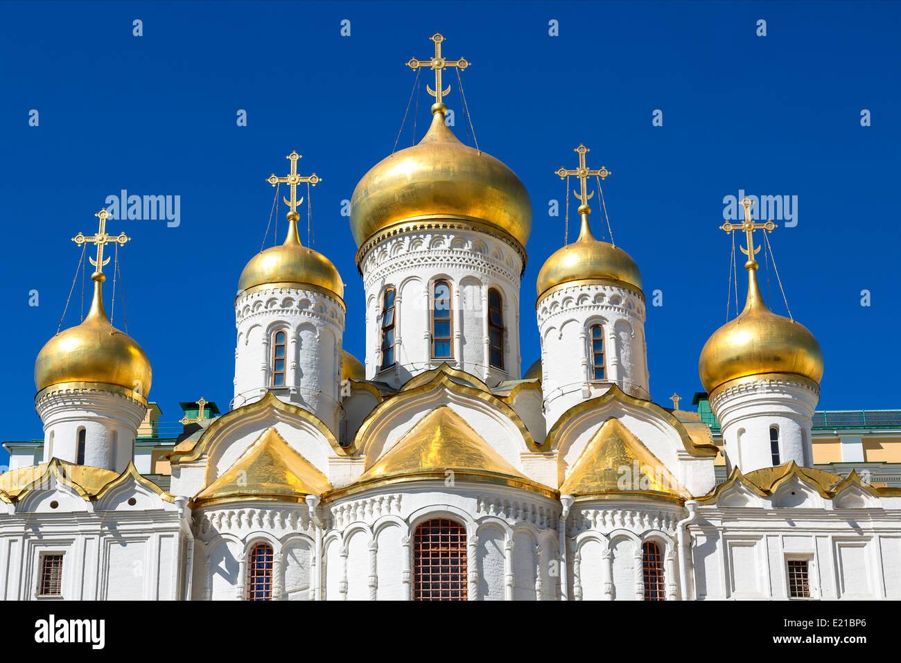 Mosca, la Cattedrale dell'Annunciazione Immagini Stock