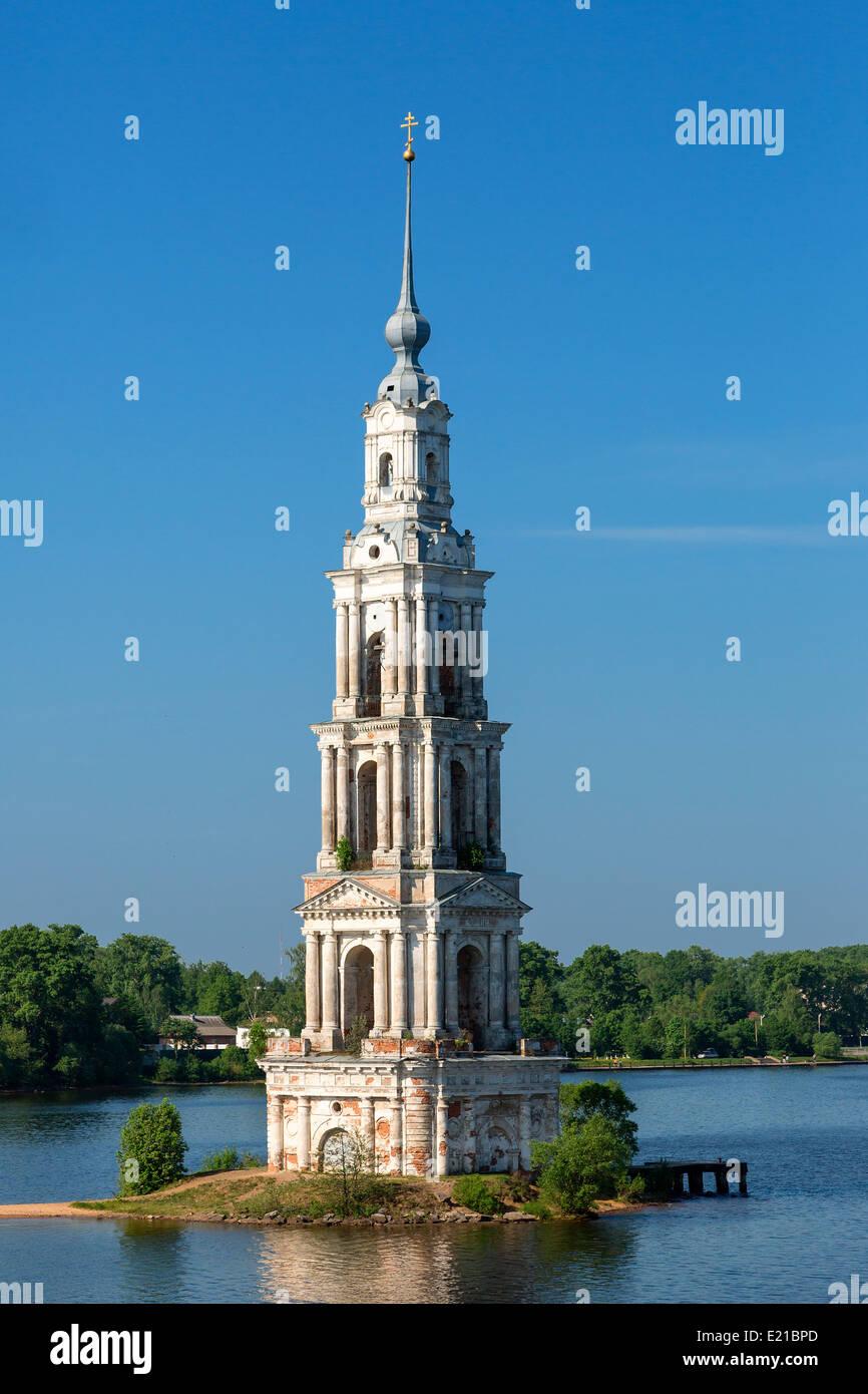 Russia, Kalyazin town, la chiesa di San Nicola Immagini Stock