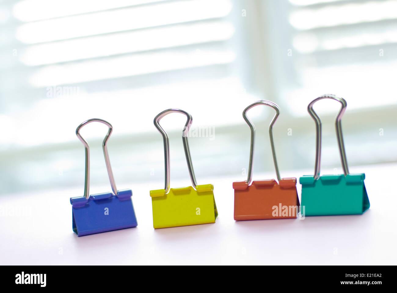 Legante colorata clip Immagini Stock