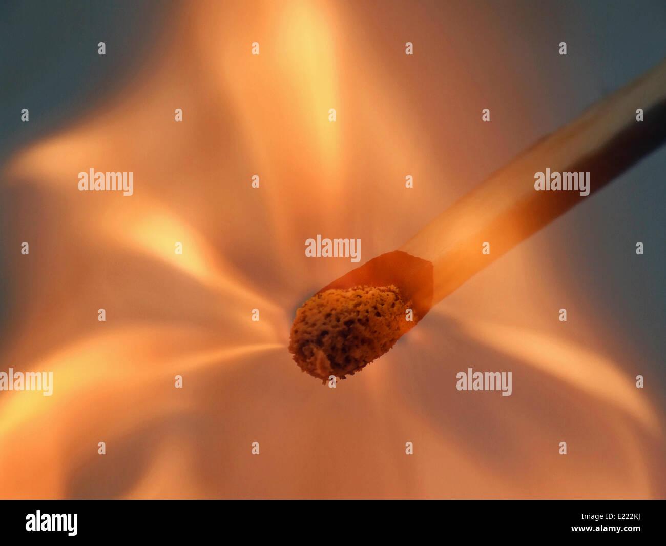 un fiammifero Immagini Stock