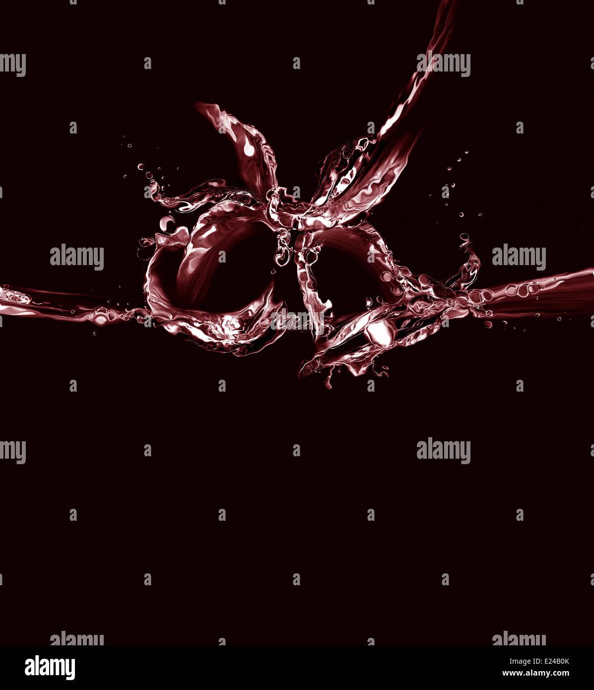 Nero e rosso Natale campane di acqua Immagini Stock