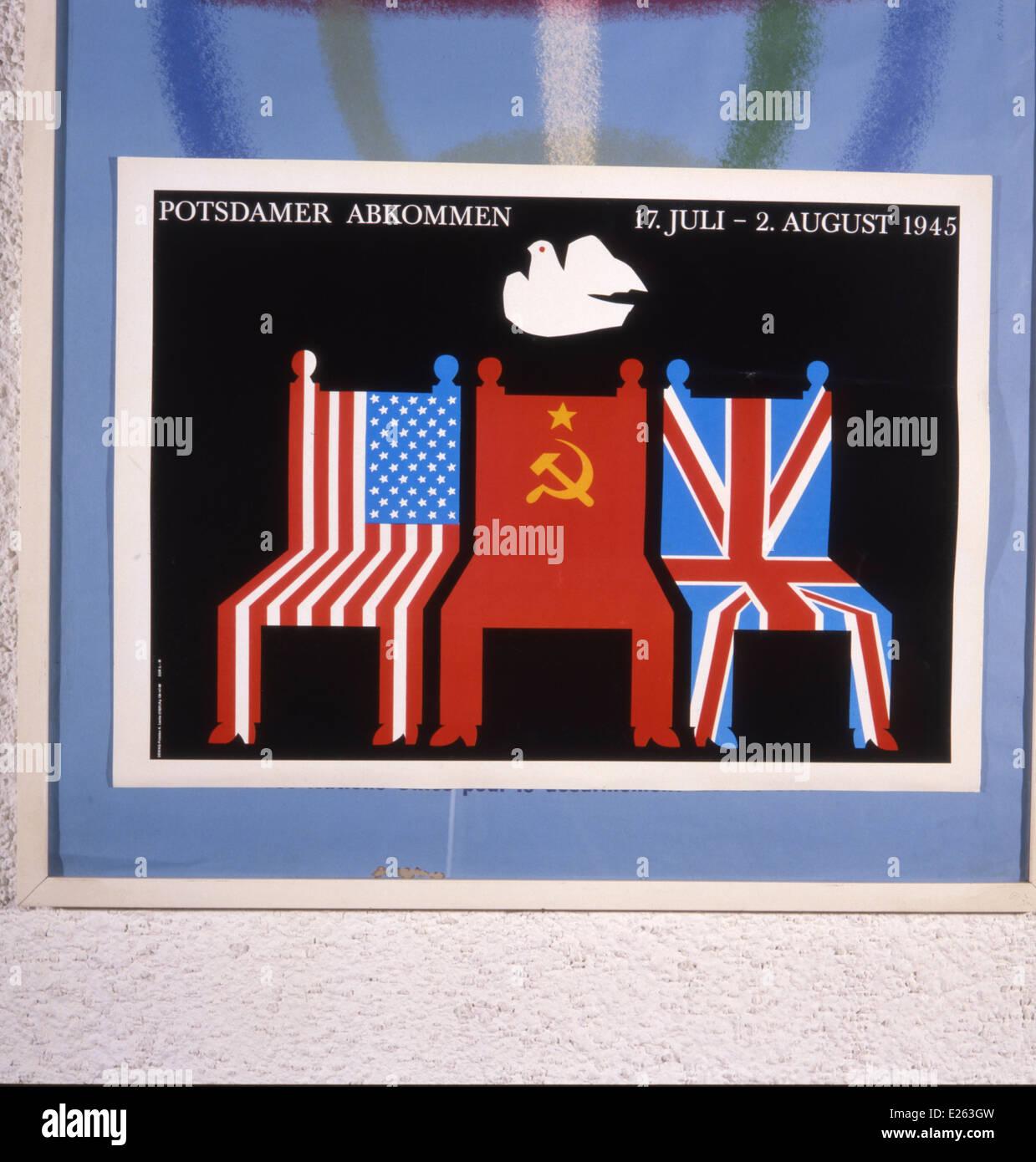 Pacifista tedesco Poster,1945 Immagini Stock