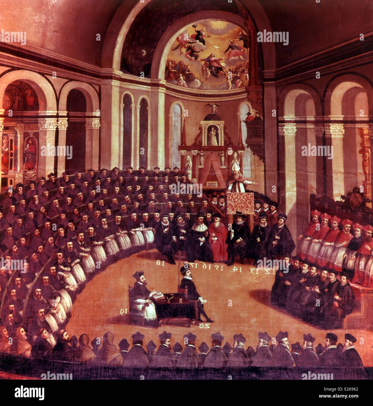 Concilio di Trento,Concilio Ecumenico Immagini Stock
