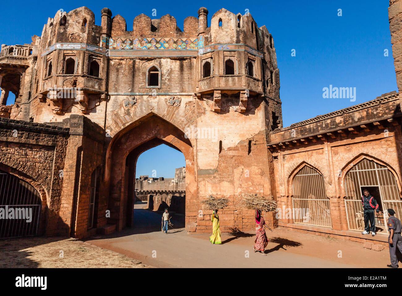 India, nello stato di Karnataka, Bidar, il fort Immagini Stock
