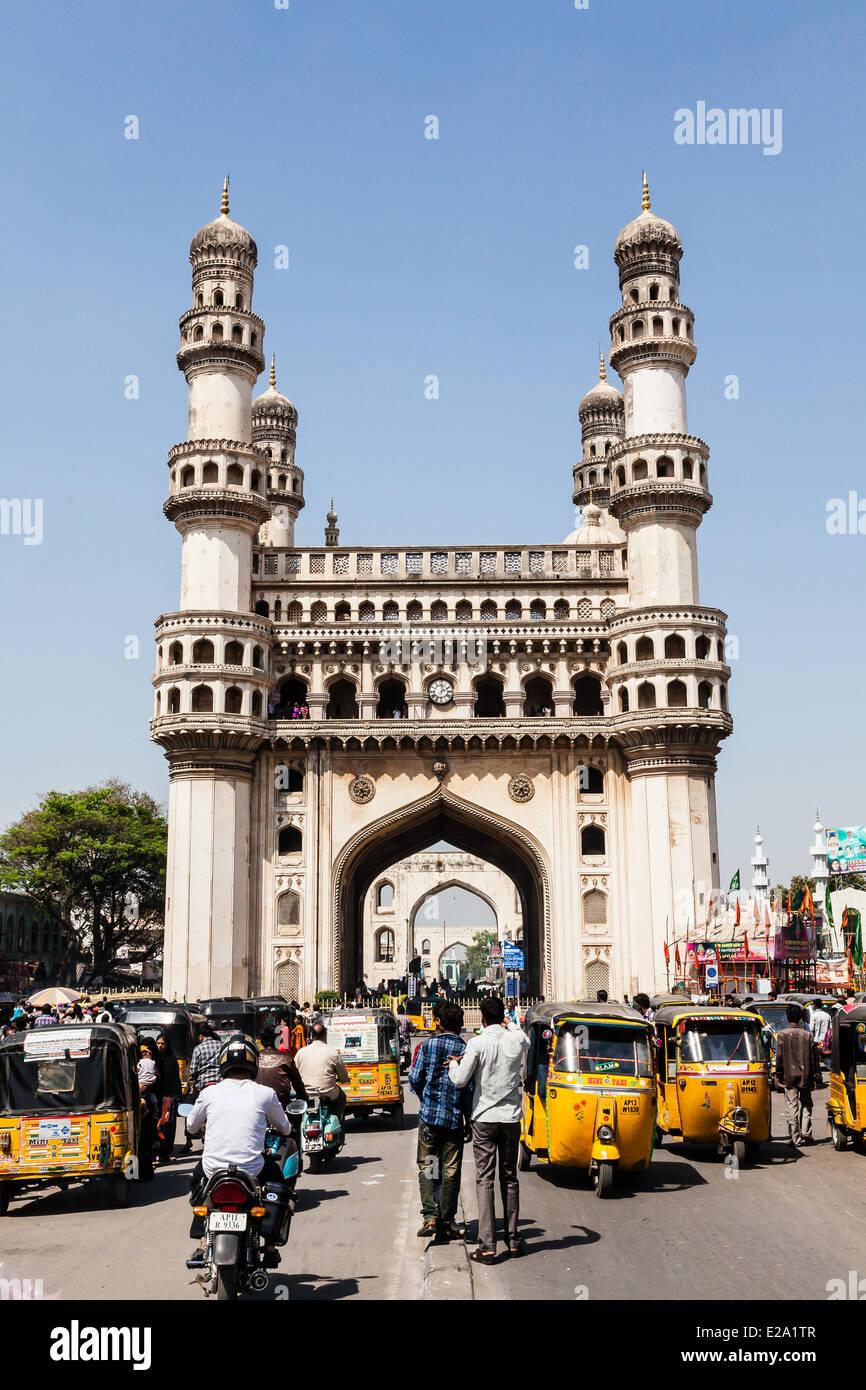 India Andhra Pradesh, Hyderabad, Charminar (1591) Immagini Stock