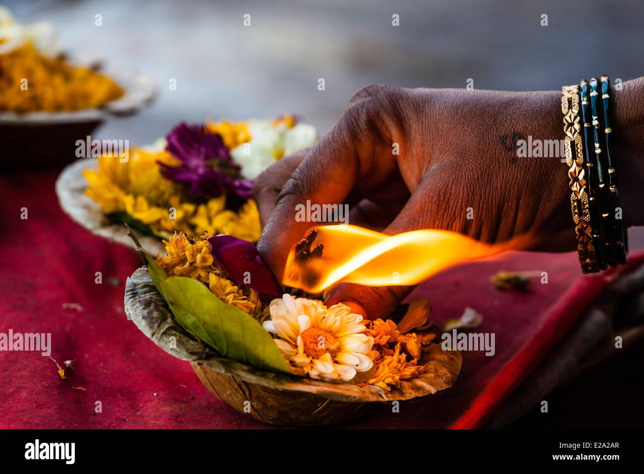 India, nello stato del Maharashtra, Nashik, offerte Immagini Stock
