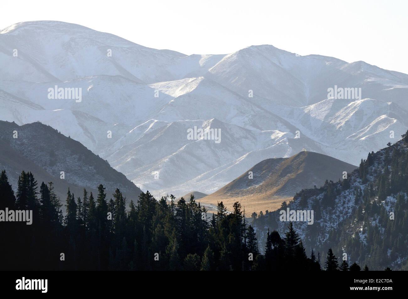 Cina, Provincia di Qinghai, Amdo, Tongren (Rebkong) contea, Tashi Kyil monastero nei dintorni Immagini Stock