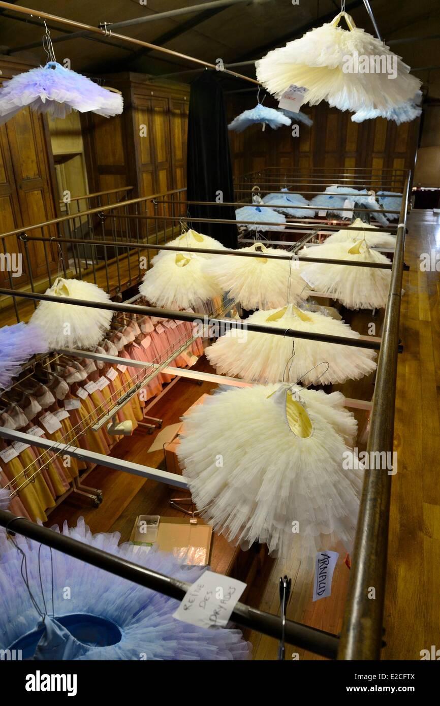 Francia, Parigi, Opera Garnier, il costume di workshop, i costumi centrale (centrale des costumi) Immagini Stock