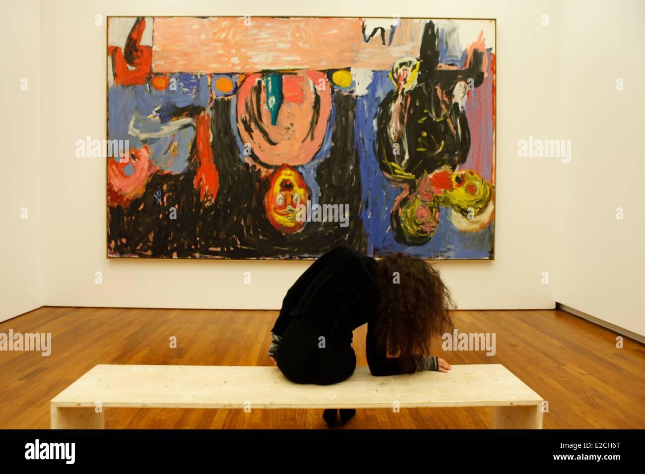 La Svizzera, Zurigo, Kunsthaus (Museo di Arte Moderna), opera di Georg Baselitz, 1938 pasto notte Immagini Stock