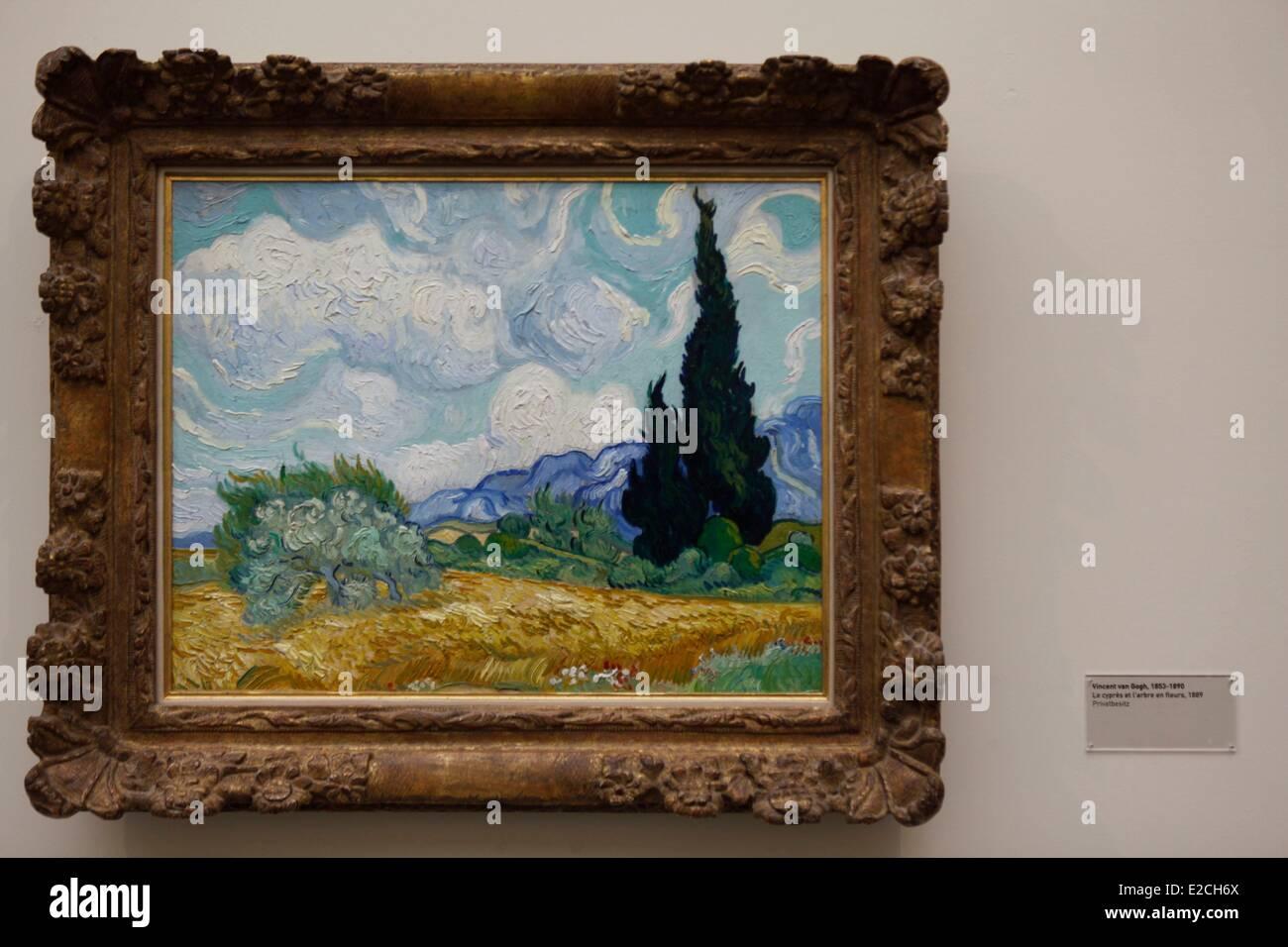 La Svizzera, Zurigo, Kunsthaus (Museo di Arte Moderna), Van Gogh paesaggio Immagini Stock