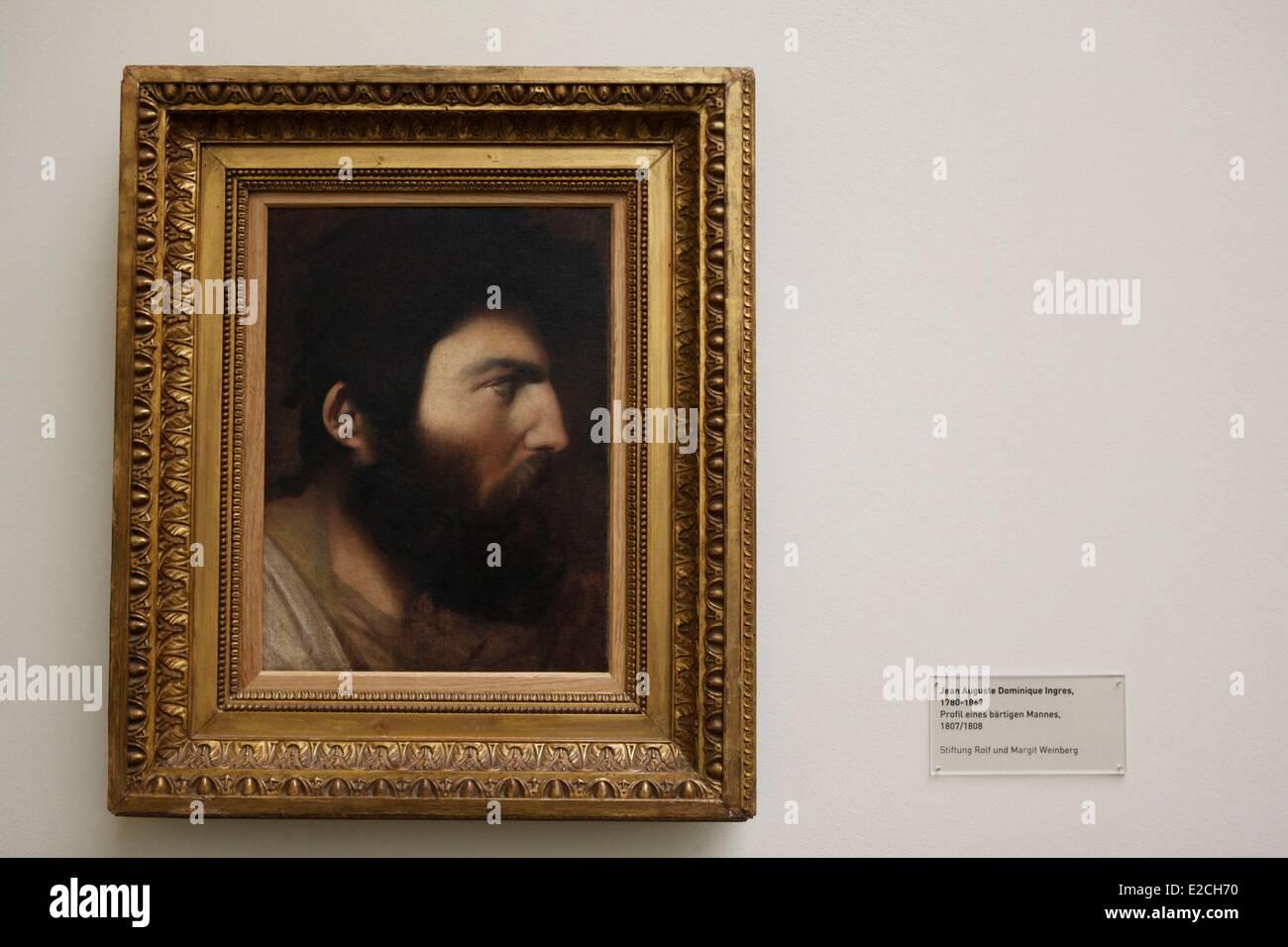 La Svizzera, Zurigo, Kunsthaus (Museo di Arte Moderna), Ingres, Ritratto di un uomo barbuto Immagini Stock