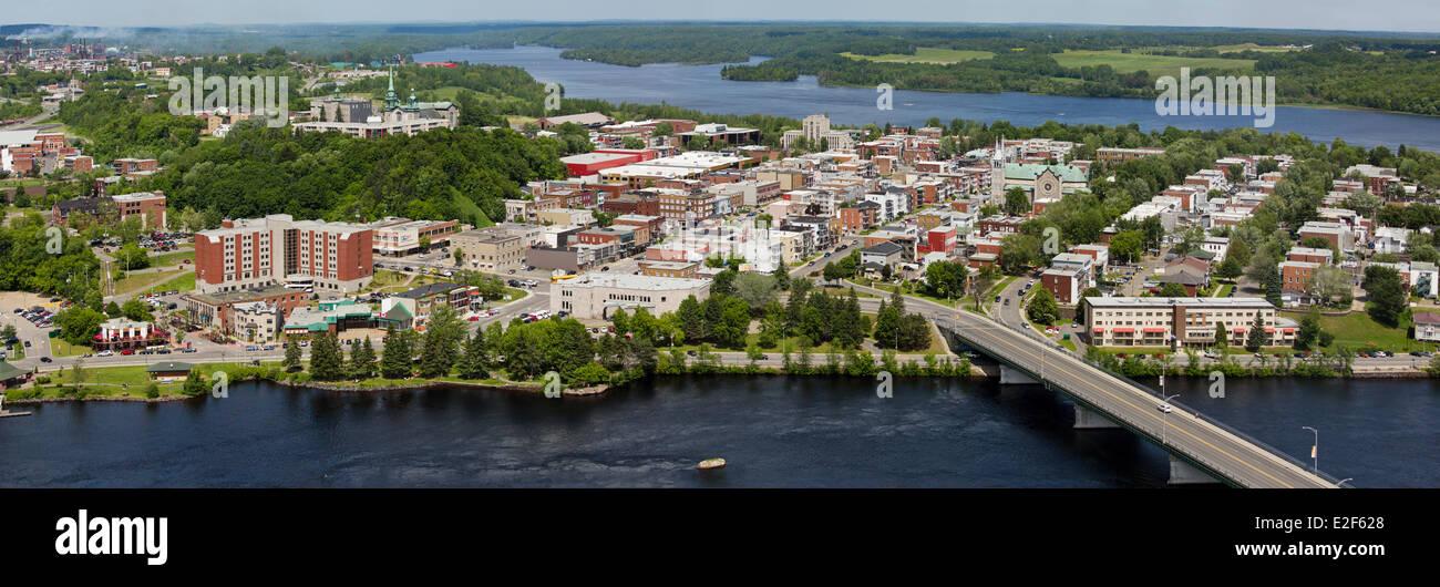 Canada Quebec, Mauricie, panoramica vista aerea della città di Shawinigan Immagini Stock