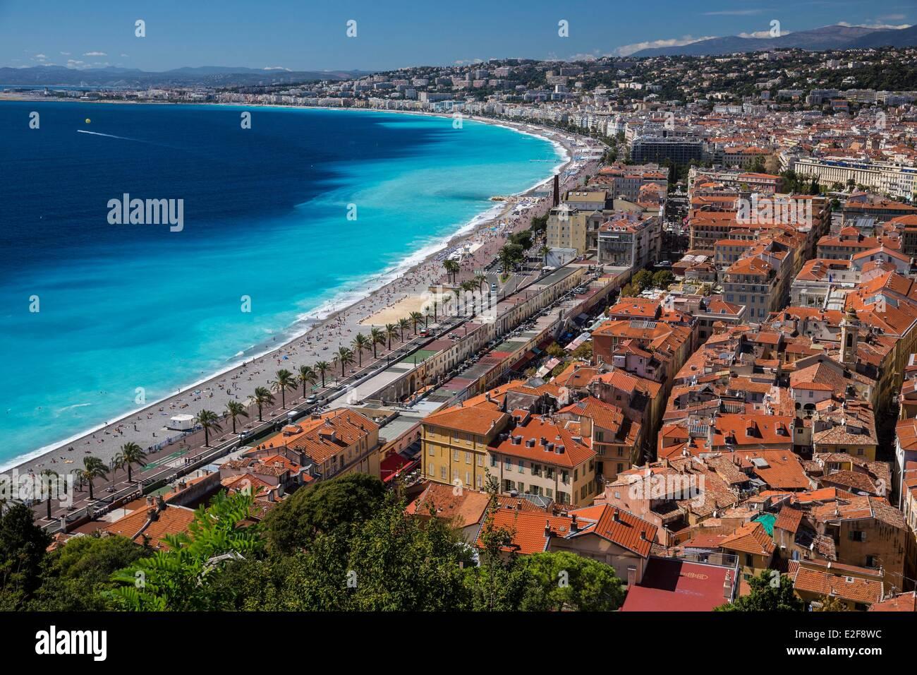 Francia, Alpes Maritimes, Nizza Promenade des Anglais Immagini Stock