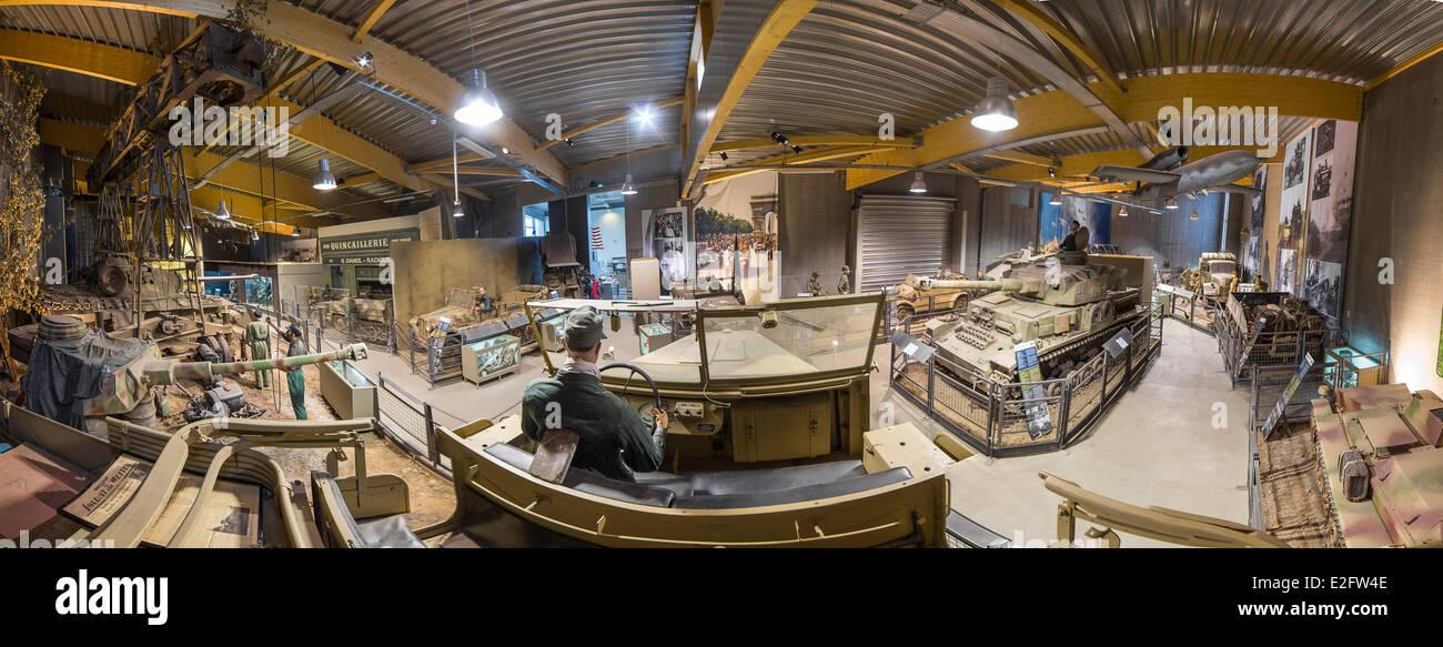 Francia Calvados Colleville Sur Mer Museo Overlord Normandy 44 Insieme Allinterno Del Vista Dal FAMO Tedesco A Mezza Via