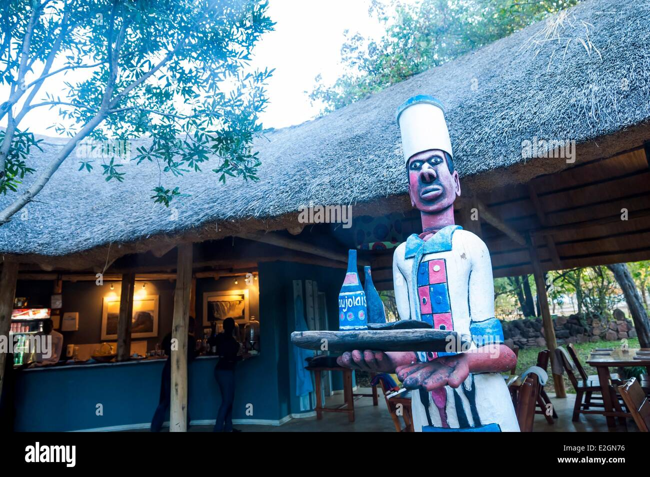 Zimbabwe Matabeleland North Provincia Victoria Falls o Mosi Oa Tunya ristorante Immagini Stock