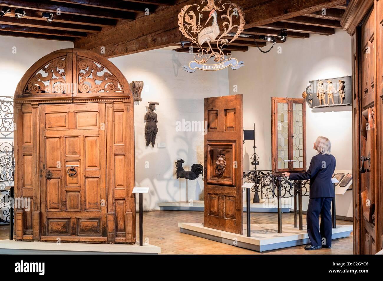 La Svizzera Ginevra Città Vecchia Maison Tavel Museo di storia urbana e vita quotidiana Immagini Stock
