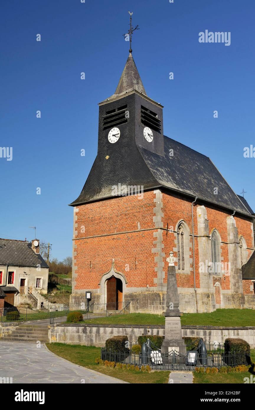 Francia Nord Eppe Sauvage Saint Ursmer chiesa Immagini Stock