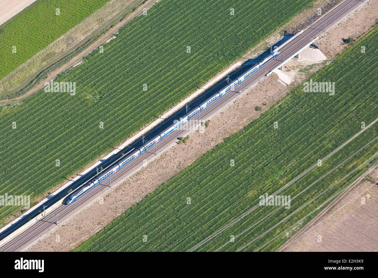 Francia Drome Montelimar TGV Sud Est (vista aerea) Immagini Stock