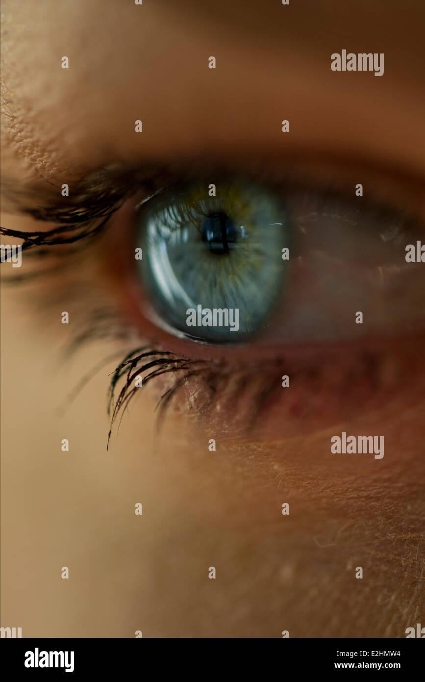 Donna di occhio, close-up Immagini Stock