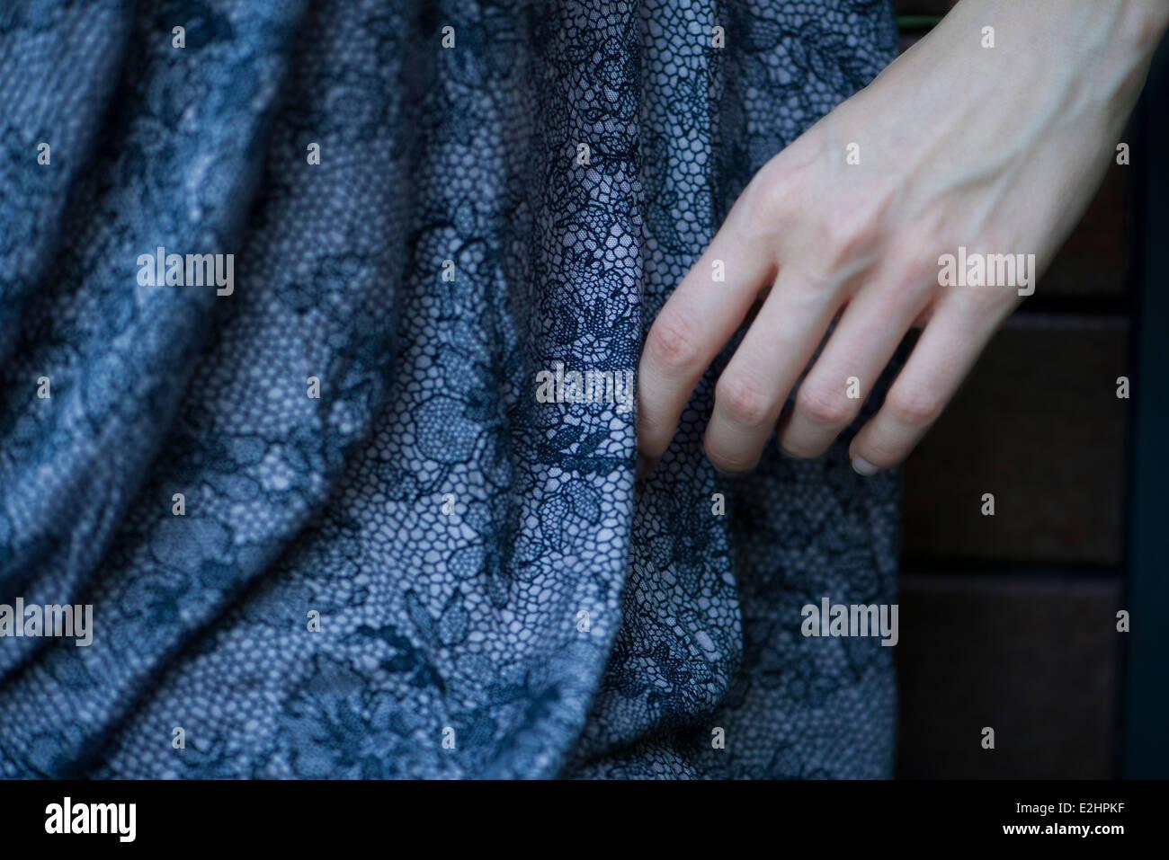 Close-up di donna di mano Immagini Stock