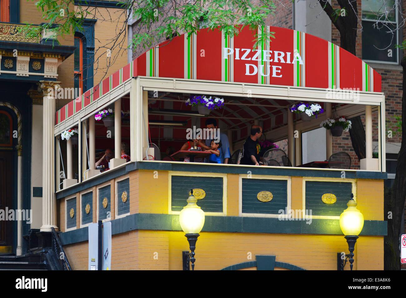 Pizzeria a causa ristorante di Chicago Immagini Stock