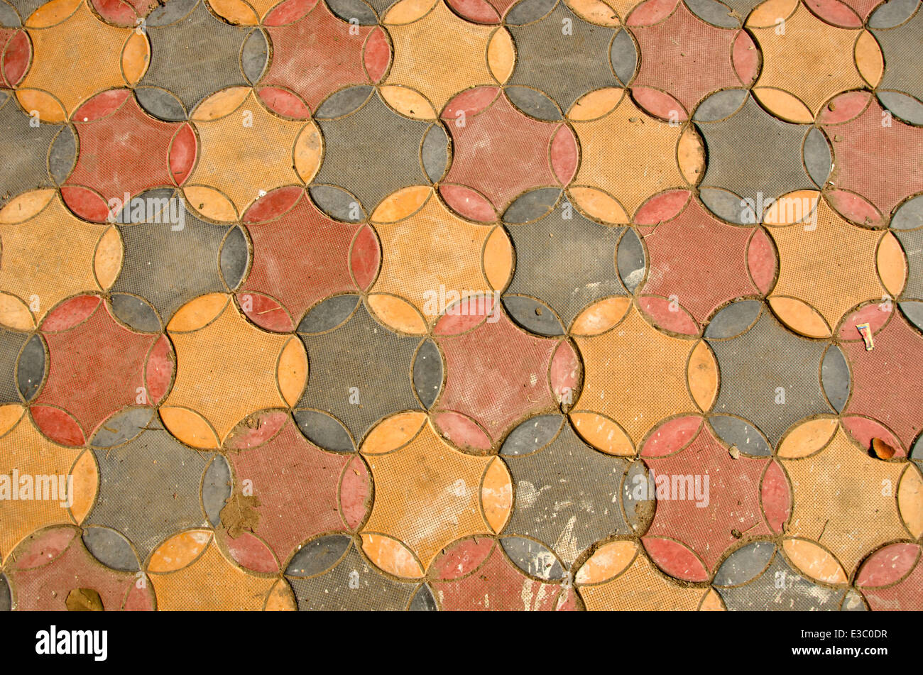 Ceramiche colorate piastrelle del pavimento background e texture