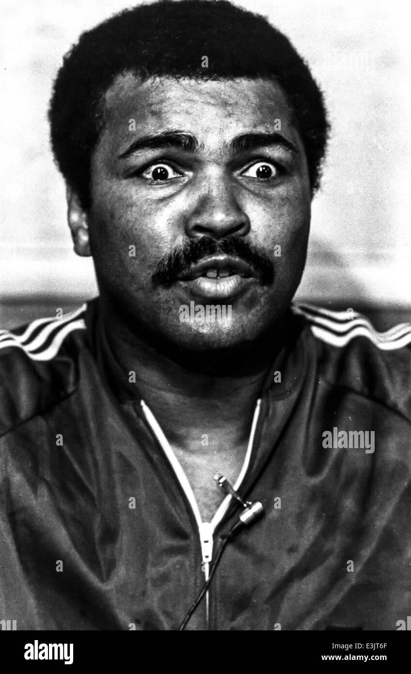 Muhammad Alì,cassio clay,1980 Immagini Stock