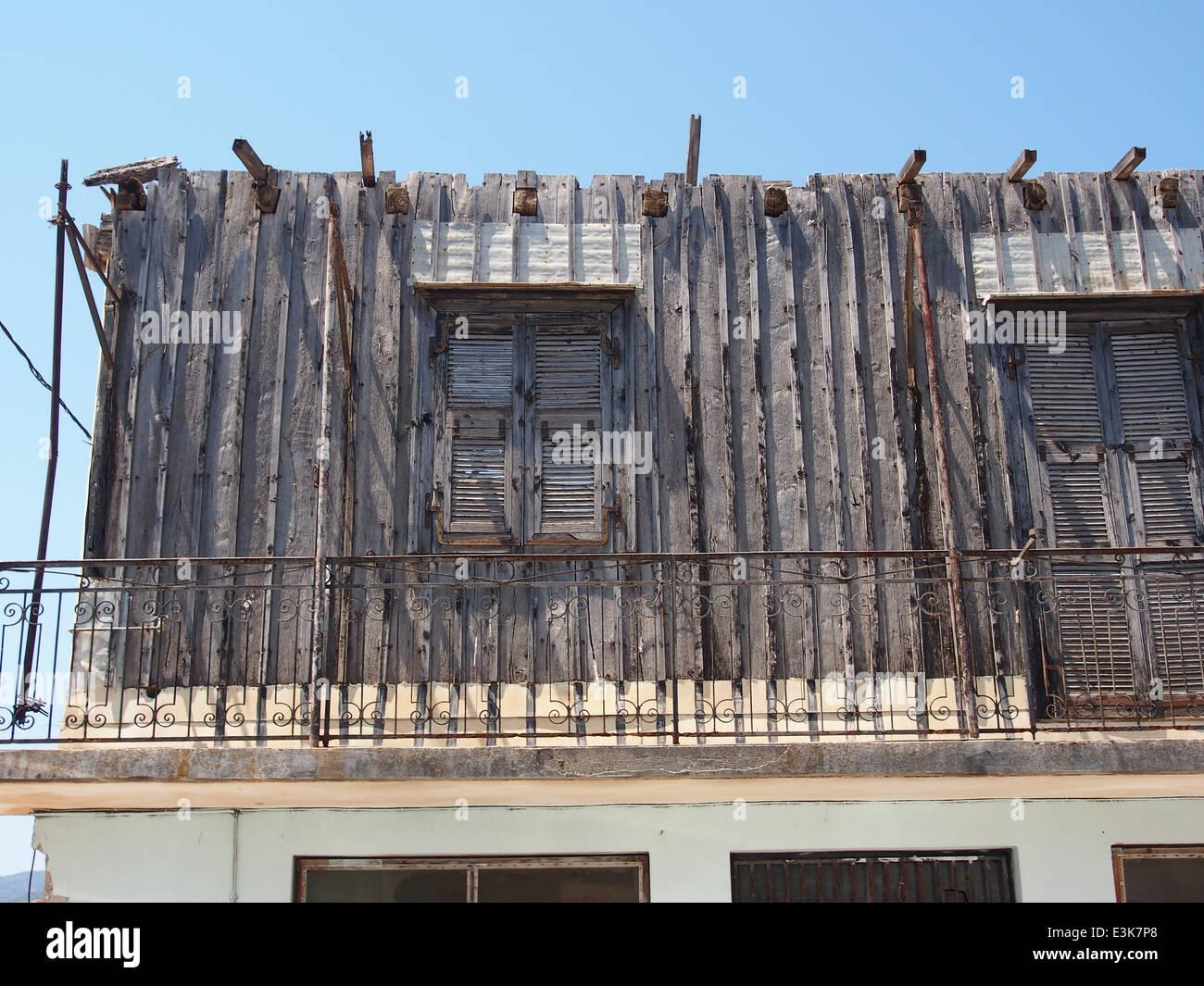Maak een titel. Parte della casa vuota su Alekou Panagouli street, pic1 Immagini Stock
