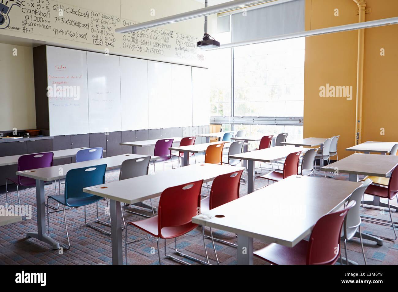 Svuotare aula scolastica Immagini Stock