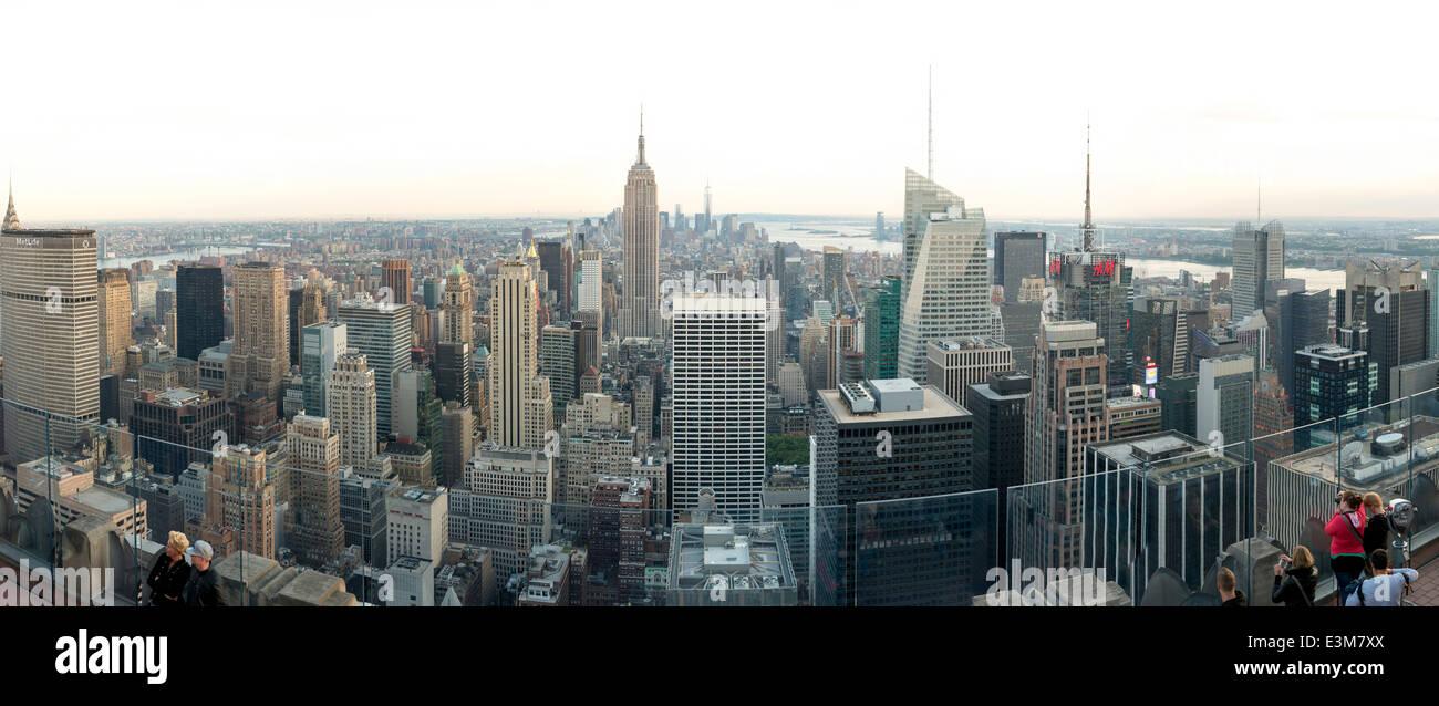 La città di New York con Empire State Building Immagini Stock