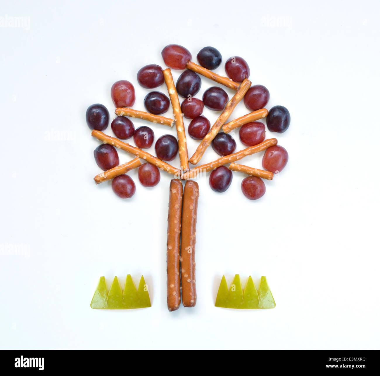 Albero alimento arte Immagini Stock