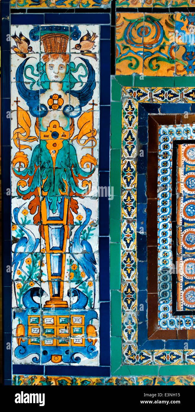 Museo de Bellas Artes de Sevilla piastrelle piastrella Museo delle Belle Arti a Siviglia Spagna - Spagnolo Immagini Stock
