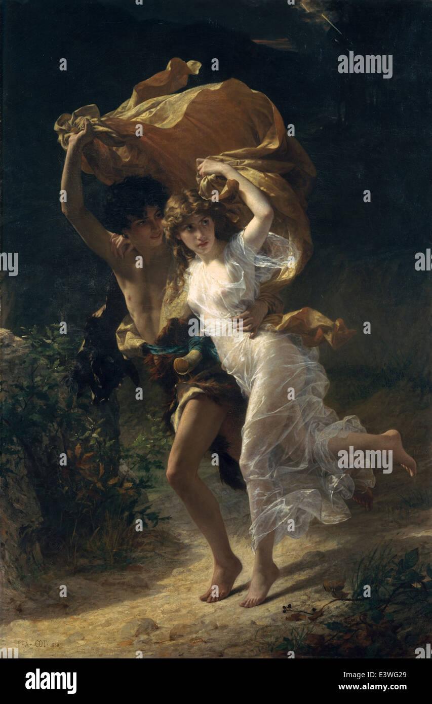 Pierre-Auguste Cot - la tempesta - 1880 - MET Museum - New York Immagini Stock
