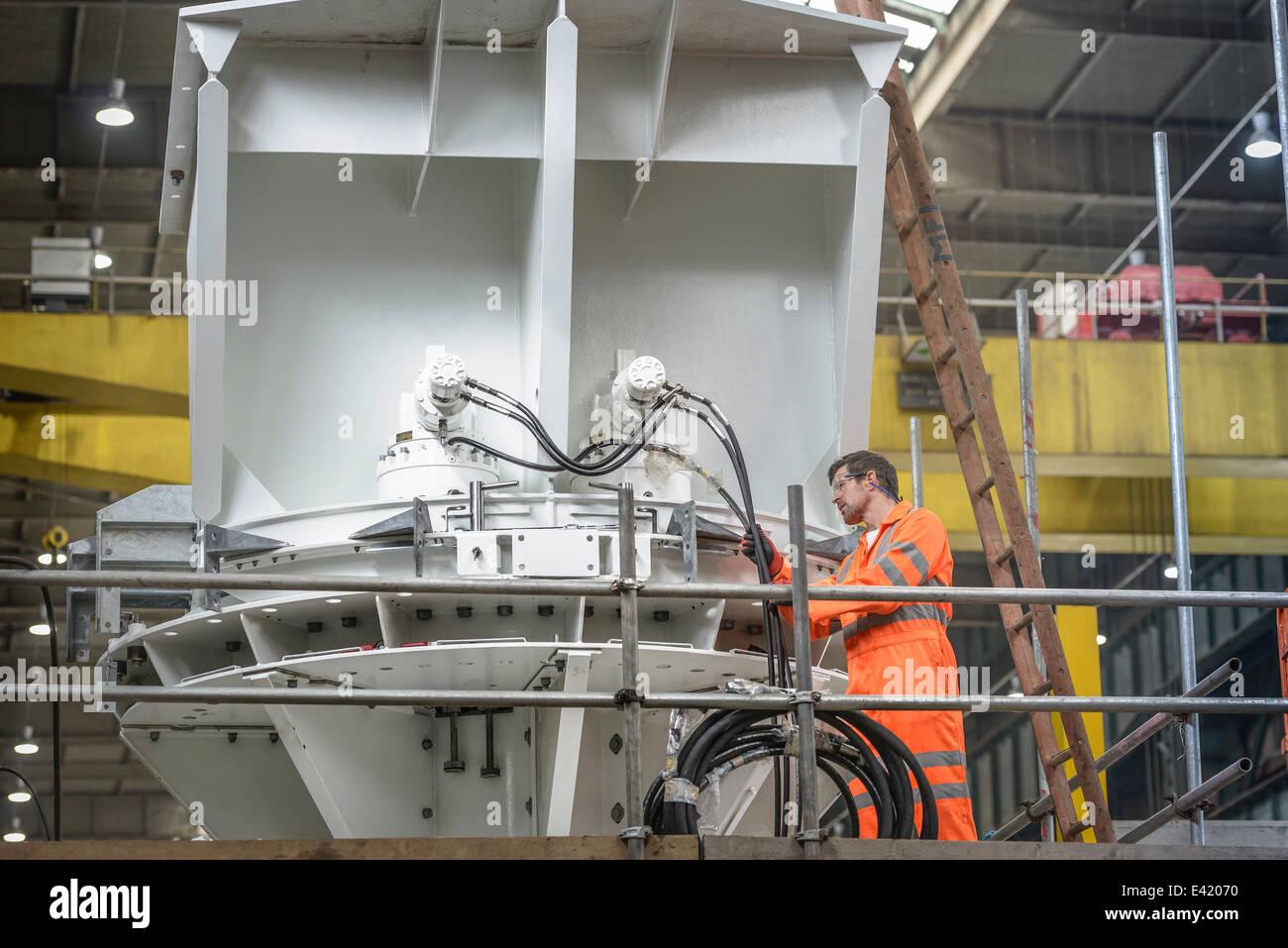 Ingegnere ispezione fabbricazione marino utilizzato per la posa di cavi Immagini Stock