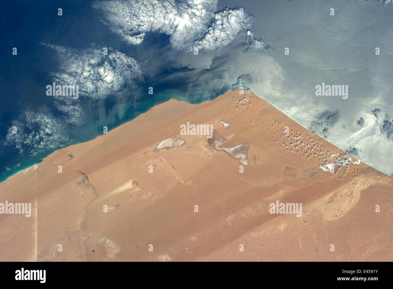 Western Sahara Deserto e il deserto del Sahara in Marocco Immagini Stock