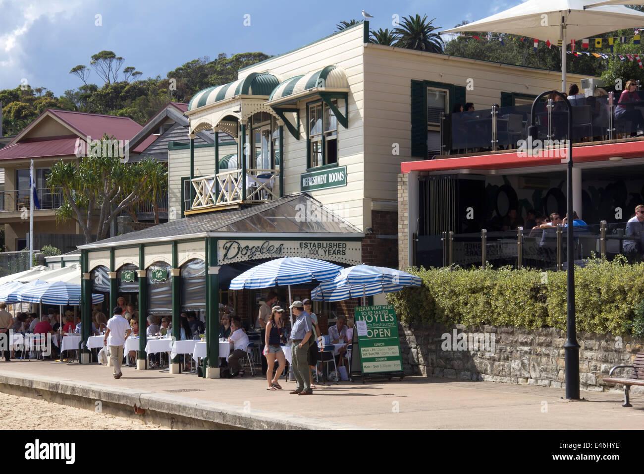 Doyle's ristorante a Watson Bay, Sydney, Nuovo Galles del Sud, NSW, Australia Immagini Stock