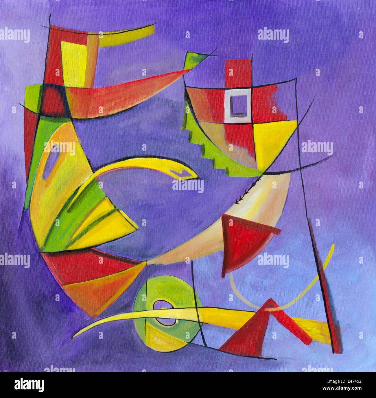 Lu0027Arte Astratta Contemporanea Pittura Geometrica. Disostituzione   Acrilico  Su Tela