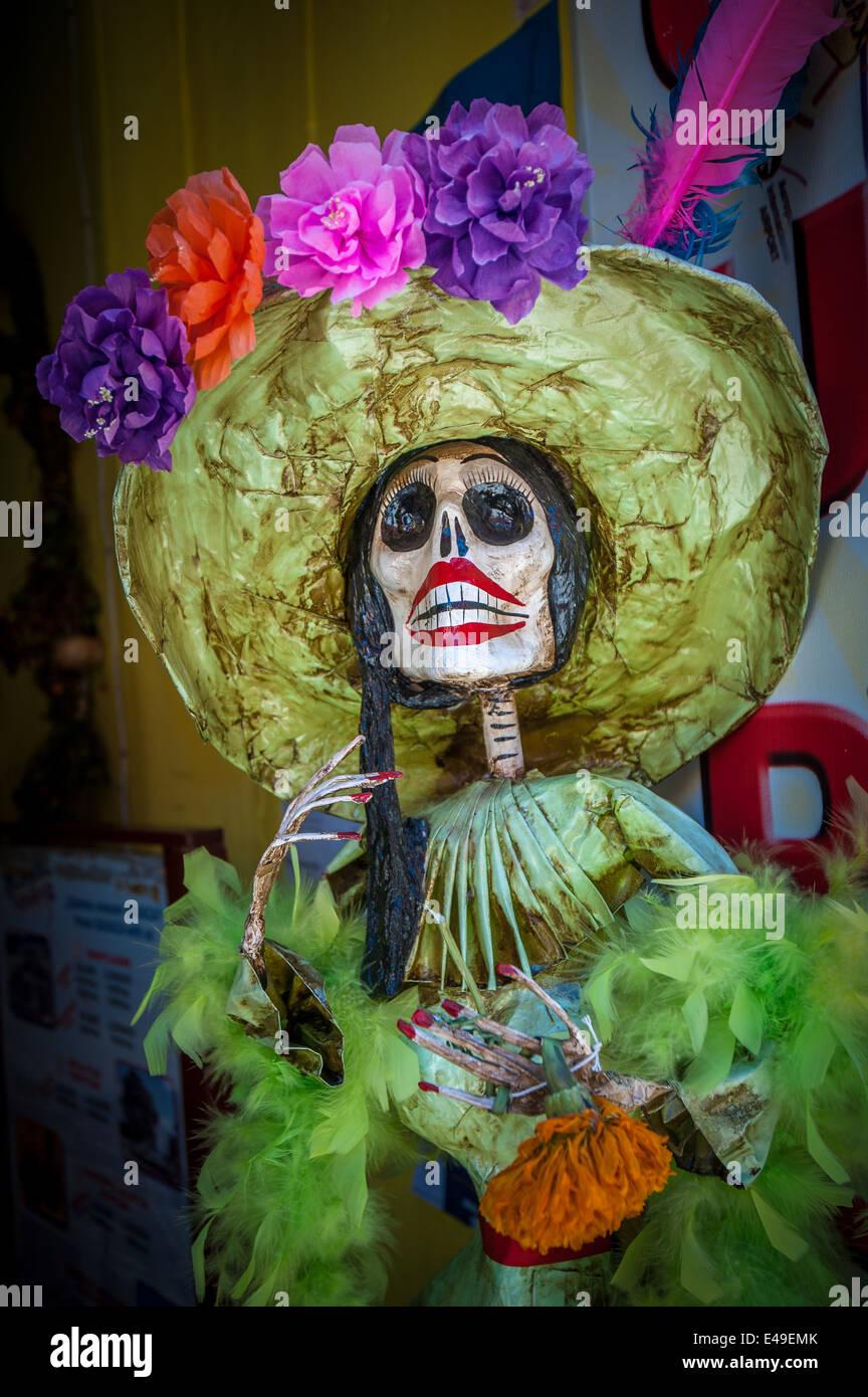 La Calavera Catrina, personaggio tradizionale messicano di Giorno dei Morti Foto Stock