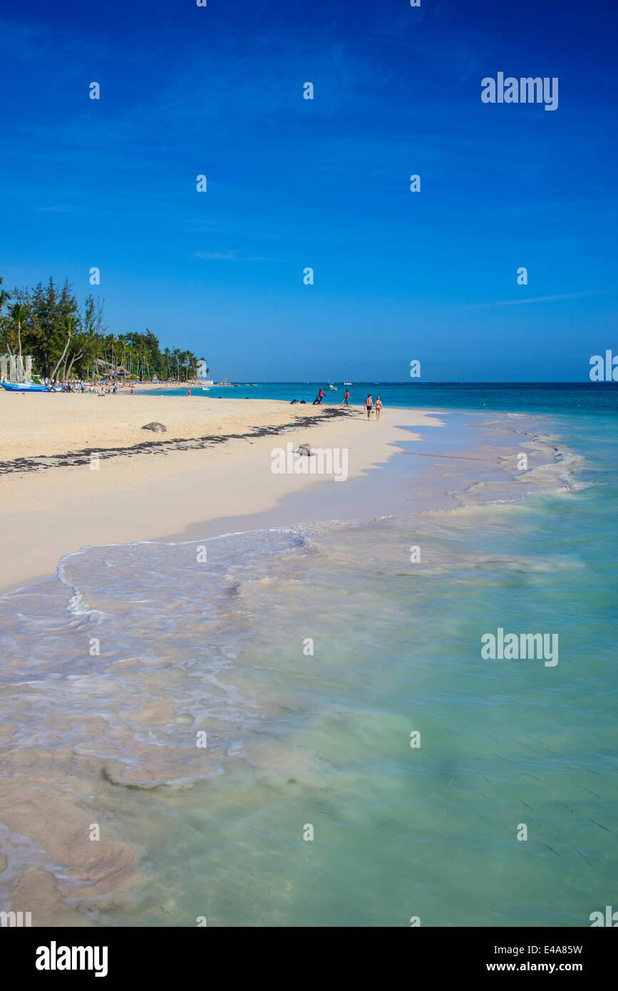 Spiaggia di Bavaro e Punta Cana, Repubblica Dominicana, West Indies, dei Caraibi e America centrale Immagini Stock