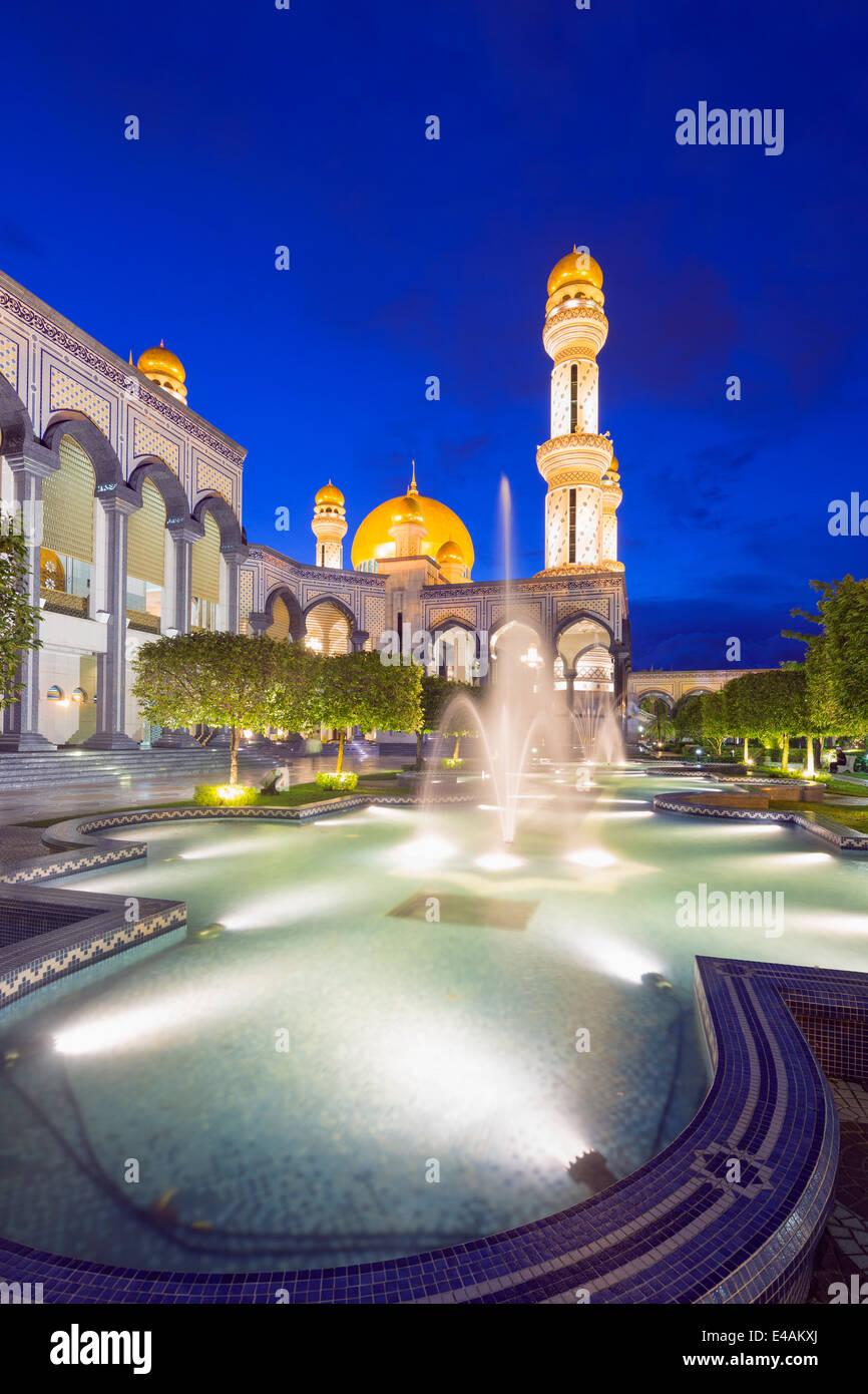 Il Sud Est Asiatico, Regno del Brunei Bandar Seri Begawan, Jame'asr Hassanal Bolkiah moschea Immagini Stock